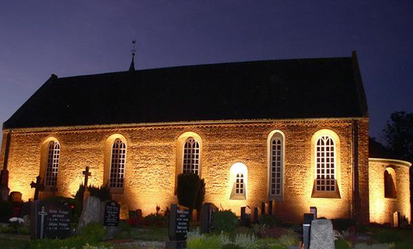 dts lichtgestaltug Kirche Bingum