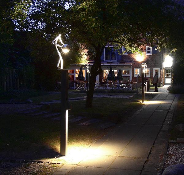dts lichtgestaltug Garten Kulturspeicher-Cafés Leer
